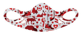 MF6 Antimicrobial Spacer Face Mask - Canada Assorted Designs